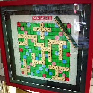 Framed Scrabble game