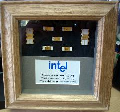 Framed rare computer chips