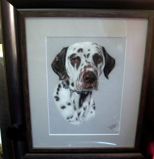 Pastel picture of Dalmation