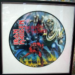 Framed Iron Maiden LP