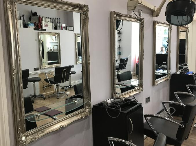 Mirrors in Hair and Beauty salon